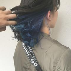 ゆるふわ ダブルカラー ストリート カラーバター ヘアスタイルや髪型の写真・画像