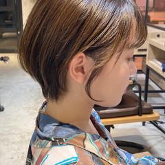 レイヤーヘアー デジタルパーマ ミニボブ ナチュラルデジパ ヘアスタイルや髪型の写真・画像