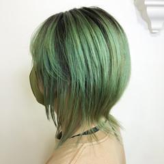 デザインカラー ウルフカット メンズカラー ショート ヘアスタイルや髪型の写真・画像