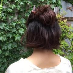 くせ毛風 パーマ 簡単ヘアアレンジ ヘアアレンジ ヘアスタイルや髪型の写真・画像