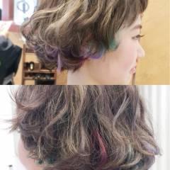 ストレート ウェットヘア モード ボブ ヘアスタイルや髪型の写真・画像
