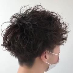 ショート ツイスト スパイラルパーマ 無造作パーマ ヘアスタイルや髪型の写真・画像