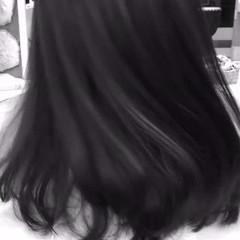ハイライト 外国人風 暗髪 セミロング ヘアスタイルや髪型の写真・画像