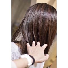 ピンクブラウン ピンク ガーリー 切りっぱなしボブ ヘアスタイルや髪型の写真・画像