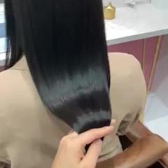 ロング トリートメント 艶カラー 髪質改善トリートメント ヘアスタイルや髪型の写真・画像