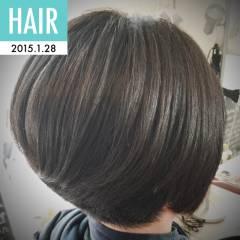 ベース型 ボブ 卵型 大人女子 ヘアスタイルや髪型の写真・画像