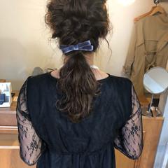 ゆるふわ 結婚式 ガーリー ウェーブ ヘアスタイルや髪型の写真・画像