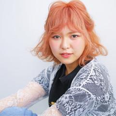 ハイライト 簡単ヘアアレンジ アッシュ ベージュ ヘアスタイルや髪型の写真・画像