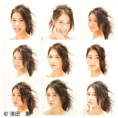 渋谷系 セミロング ショート ストリート ヘアスタイルや髪型の写真・画像