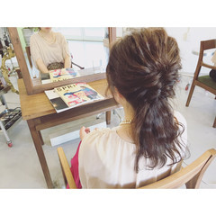 簡単ヘアアレンジ 結婚式 大人かわいい ヘアアレンジ ヘアスタイルや髪型の写真・画像
