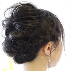 エレガント 上品 ミディアム 黒髪 ヘアスタイルや髪型の写真・画像