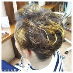 パーマ ボーイッシュ ショート ハイライト ヘアスタイルや髪型の写真・画像