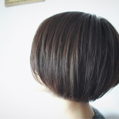 アッシュ ボブ ショートボブ ナチュラル ヘアスタイルや髪型の写真・画像