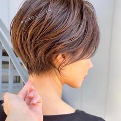 ミニボブ ショートボブ ショートヘア ハンサムショート ヘアスタイルや髪型の写真・画像