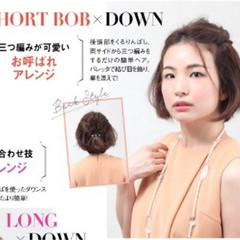 ボブ ヘアアレンジ ショート ショートボブ ヘアスタイルや髪型の写真・画像