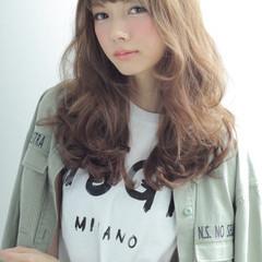 パーマ 外国人風 イルミナカラー セミロング ヘアスタイルや髪型の写真・画像
