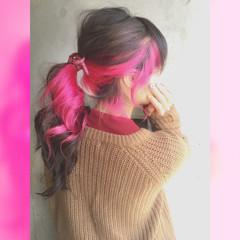 成人式 ガーリー フェミニン セミロング ヘアスタイルや髪型の写真・画像