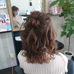 ナチュラル ヘアセット ミディアム 簡単ヘアアレンジ ヘアスタイルや髪型の写真・画像