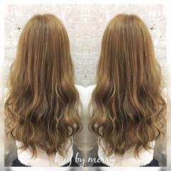 セミロング 外国人風 グラデーションカラー ハイライト ヘアスタイルや髪型の写真・画像