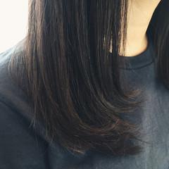 グラデーションカラー ハイライト ロング 暗髪 ヘアスタイルや髪型の写真・画像