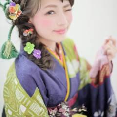 ヘアアレンジ 編み込み コンサバ 謝恩会 ヘアスタイルや髪型の写真・画像