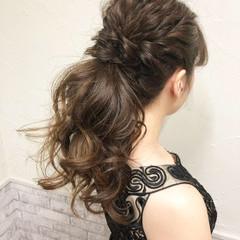 ヘアアレンジ デート ロング エレガント ヘアスタイルや髪型の写真・画像