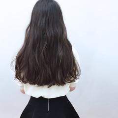 波ウェーブ ロング ゆるふわ 外国人風 ヘアスタイルや髪型の写真・画像