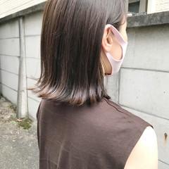 ブラウンベージュ ナチュラル 切りっぱなしボブ ベージュ ヘアスタイルや髪型の写真・画像