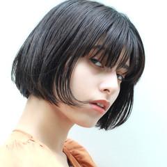 ボブ ミニボブ ワンカール ショートヘア ヘアスタイルや髪型の写真・画像
