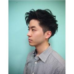 ショート パーマ 暗髪 モード ヘアスタイルや髪型の写真・画像