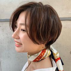 ショートパーマ ショートボブ ショートヘア 簡単スタイリング ヘアスタイルや髪型の写真・画像