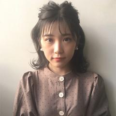簡単ヘアアレンジ 透明感 女子力 ボブ ヘアスタイルや髪型の写真・画像