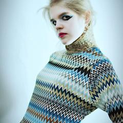 編み込み 外国人風 モード かっこいい ヘアスタイルや髪型の写真・画像