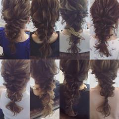 ヘアアレンジ 外国人風 ハーフアップ フェミニン ヘアスタイルや髪型の写真・画像