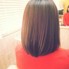 ナチュラル セミロング 縮毛矯正 ヘアスタイルや髪型の写真・画像