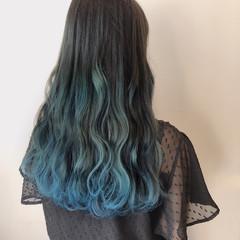 ロング スポーツ ネイビー ブルー ヘアスタイルや髪型の写真・画像