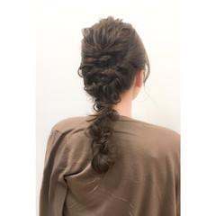 ヘアアレンジ ハーフアップ セミロング アップスタイル ヘアスタイルや髪型の写真・画像