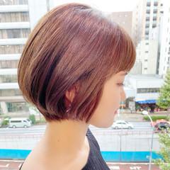 ショートヘア ショートボブ ナチュラル 大人かわいい ヘアスタイルや髪型の写真・画像