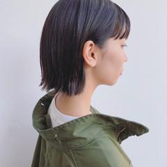 暗髪 透明感 外国人風 ナチュラル ヘアスタイルや髪型の写真・画像