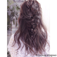 デート ゆるふわ ハーフアップ フェミニン ヘアスタイルや髪型の写真・画像