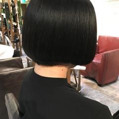 抜け感 ボブ 黒髪 モード ヘアスタイルや髪型の写真・画像
