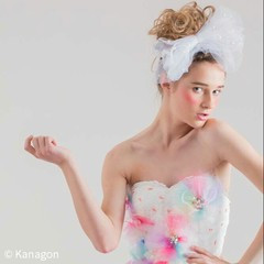 ヘアアレンジ 結婚式 セミロング 外国人風 ヘアスタイルや髪型の写真・画像