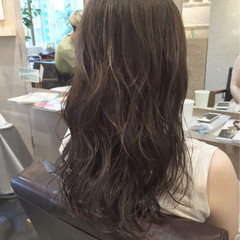 透明感 ハイライト ロング ゆるふわ ヘアスタイルや髪型の写真・画像