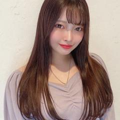 ガーリー ピンクバイオレット ダークトーン ワンカール ヘアスタイルや髪型の写真・画像