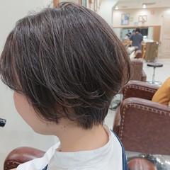 ショートヘア ショートボブ 極細ハイライト ベリーショート ヘアスタイルや髪型の写真・画像