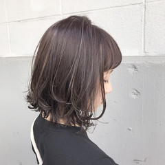 アッシュ 透明感 ボブ モード ヘアスタイルや髪型の写真・画像
