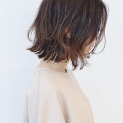 フェミニン ボブ グラデーションカラー 無造作 ヘアスタイルや髪型の写真・画像