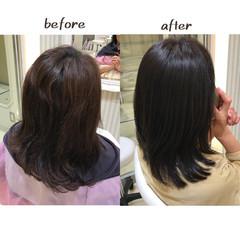 ヘアケア 髪質改善トリートメント ナチュラル トリートメント ヘアスタイルや髪型の写真・画像