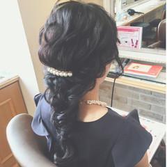 上品 ロング エレガント ヘアアレンジ ヘアスタイルや髪型の写真・画像