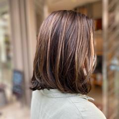 バレイヤージュ ハイライト ヘルシースタイル 3Dハイライト ヘアスタイルや髪型の写真・画像